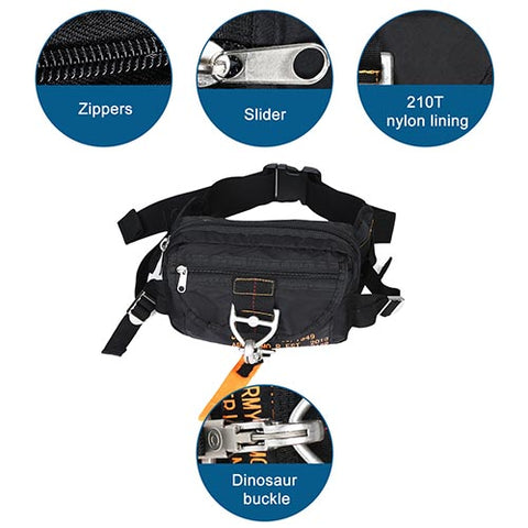 Parachute Style Waist Pack Running Bag