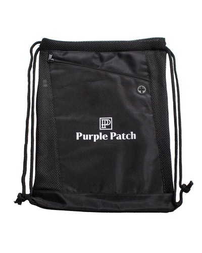 Deluxe Purple Patch Drawstring Bag