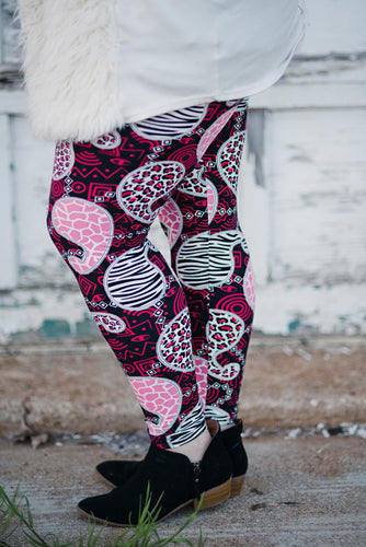 Pink Paisley Passion Leggings