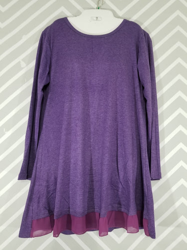 3XL Mock Layered Chiffon Tunic