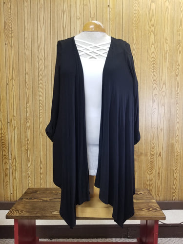 Black Kimono with Gold Button