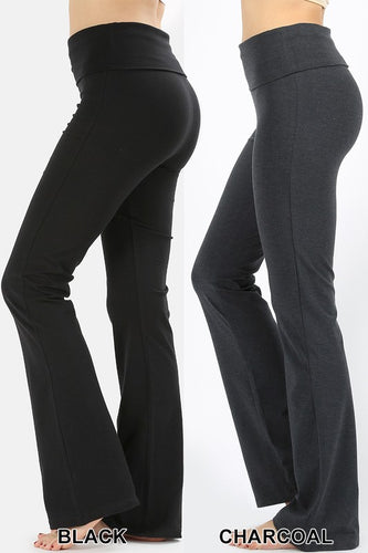 Black Yoga Waist Cotton Pants