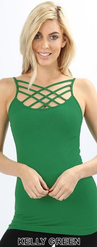 Kelly Green Lattice Cami