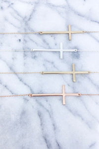 Worn Gold Cross Necklace