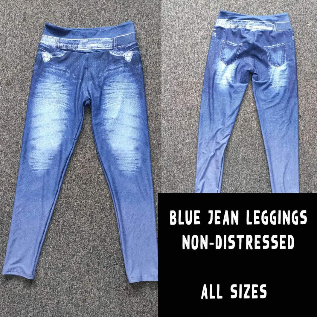 Blue Jean Non-Distressed Leggings