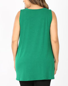 Ash Mint Button Tank
