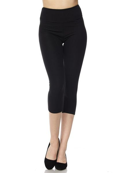 Brushed Capri - Yoga Waist