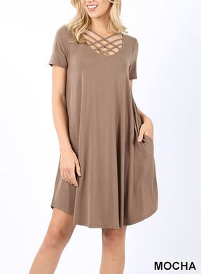 Mocha Triple Lattice Dress