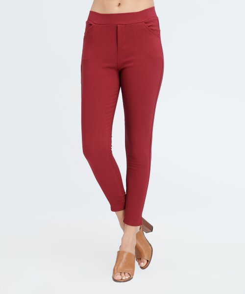Burgundy Cotton Jeggings *Small only*