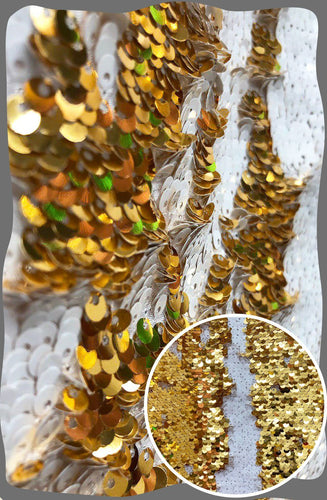 8FT x 9FT Sequin Backdrop Mermaid White and Gold Sequin Backdrop | Reversible Sparkly Sequin Photography Backdrop Wedding Backdrop - Photo Booth Prop Sign