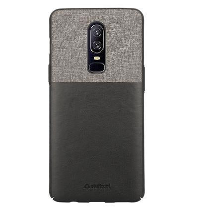 Elegent & Stylish PU Leather Back Case Cover for OnePlus 6 - Black - Trendy Oasis