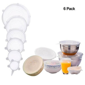 Stretch & Fit - Silicone Stretch Lids (6pcs) - Trendy Oasis