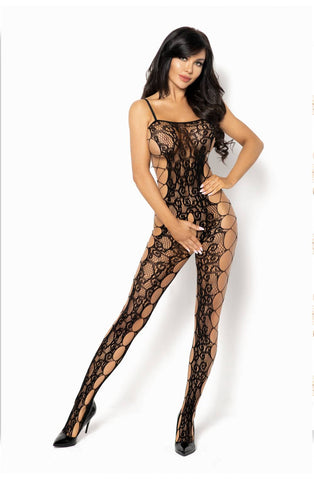 Portia Black Crotchless  Bodystocking