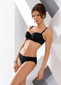 Vena Black Balconette Underwired Bra