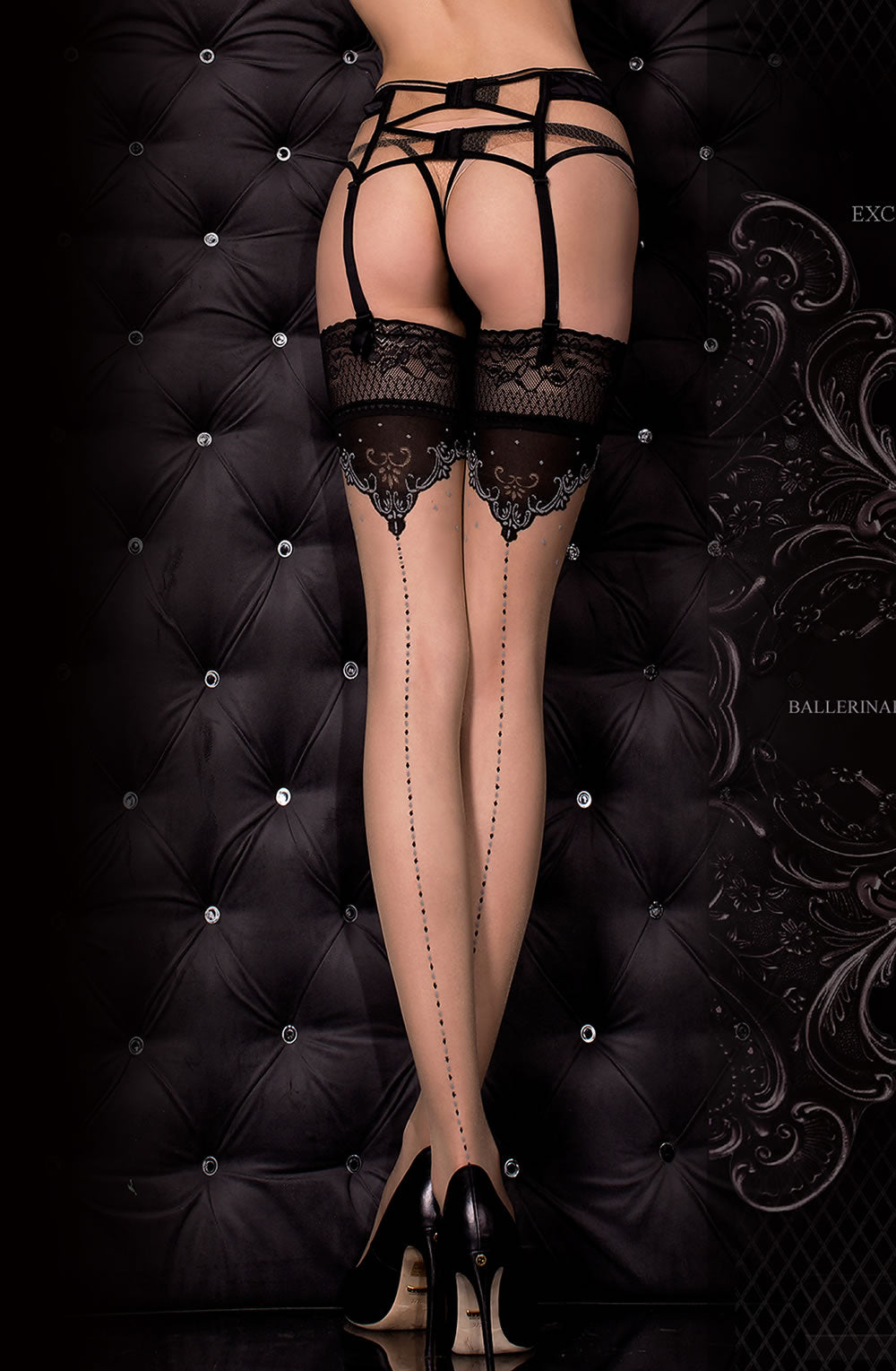 317 Hold Ups in Nero Black/Skin by Ballerina