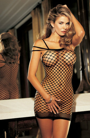 Black Fishnet Dress