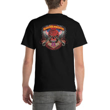 Load image into Gallery viewer, SMB Red Skull (on Back) Short Sleeve T-Shirt