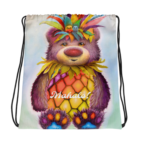 Mahalo Bear Drawstring bag