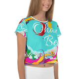 Ohana Bears Catch The Wave All-Over Print Crop Tee
