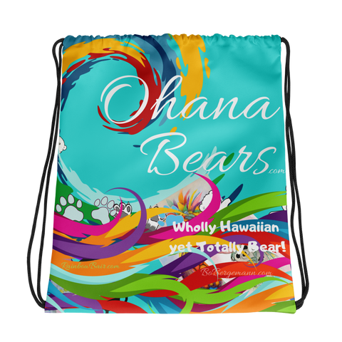 Ohana Bears Catch The Wave Drawstring bag