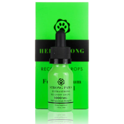 Strong Paws Full Spectrum Recovery Pet Drops - 1000MG