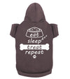 Eat Sleep Treat Repeat Funny Relatable Meme For Animal Lovers - Dog Pet Hoodie