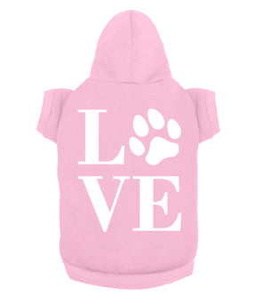 Cute Love Paw Print Fashion Graphic Icon For Animal Lovers Dog or Cat Pet Hoodie