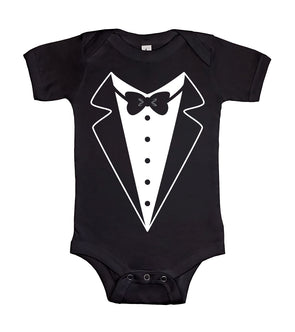 Cute First Formal Wedding Event Tuxedo Little Gentleman Graphic - Baby Onesie