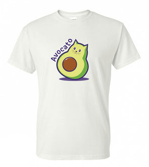 Adorable Cat Avocado Lover Avocato Pun - Adult Humor T-Shirt