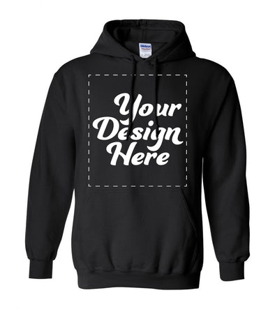 Design Your Own Print Text or Image Hooded Sweatshirt