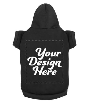 Design Your Own Print Text or Image Dog Hoodie - 100% Ringspun Cotton
