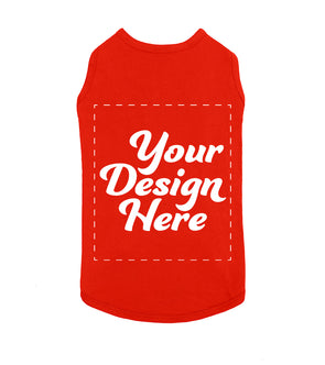 Design Your Own Print Text or Image Dog Shirt - 100% Ringspun Cotton