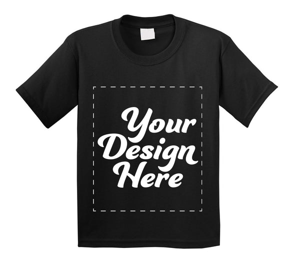 Design Your Own Print Text or Image Kids/Toddler T-Shirt - 100% Ringspun Cotton