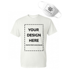 Design Your Own Print Text or Image T-Shirt &  Face Mask - Soft Cotton