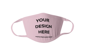 Design Your Own Print Text or Image  Face Mask  Washable and Reusable (2 Ply) Mask