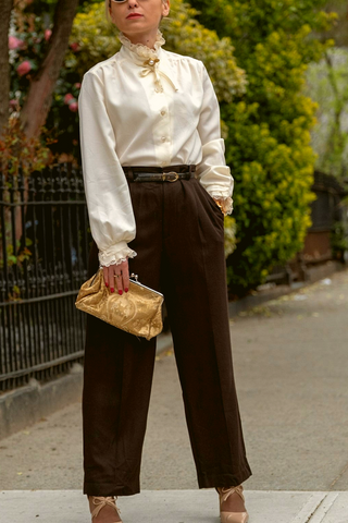 Women's Dress Pants in Brown