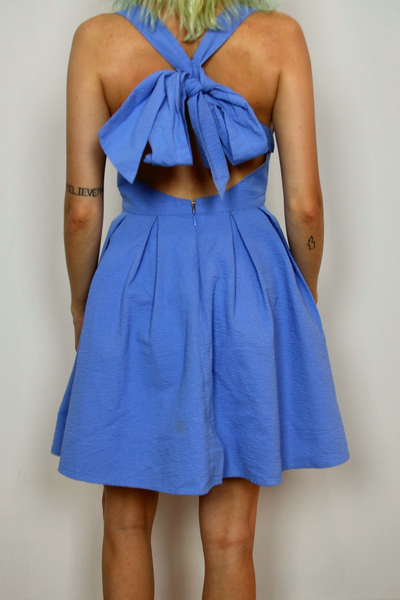 Lauren James Livingston Blue Bow Dress