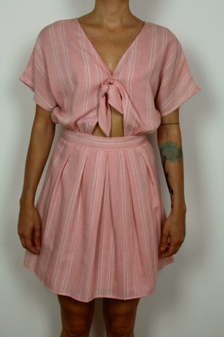 Frnch short sleeve dress in pink