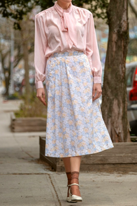 Carriage Court Floral Midi Skirt