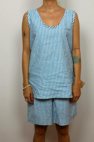 Nino Soviet vintage striped tank top and short