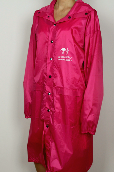 Raincoat with print on the back