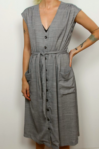 Melloday buttoned down dress