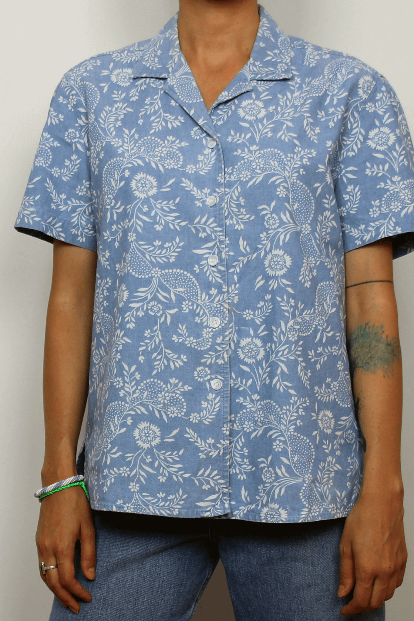 Jones New York 100% Cotton Floral Shirt