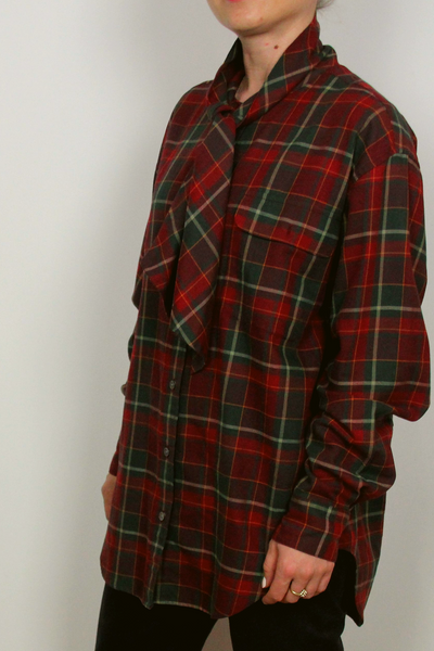 Ralph Lauren Tylor Plaid Tieneck Shirt