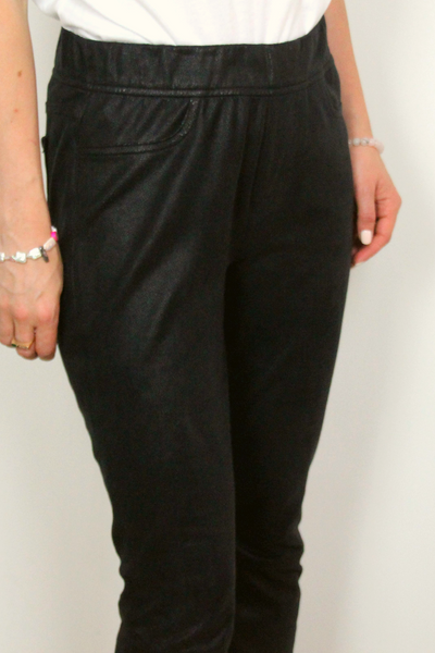 'Comfort Skinny' Faux Leather Ponte Skinny Pants