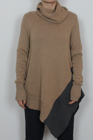 Stylus brown long sweater