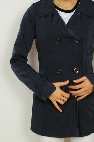 ARMI blue short trench coat