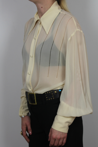 Vintage ANNE KLEIN Collection Blouse .---0203