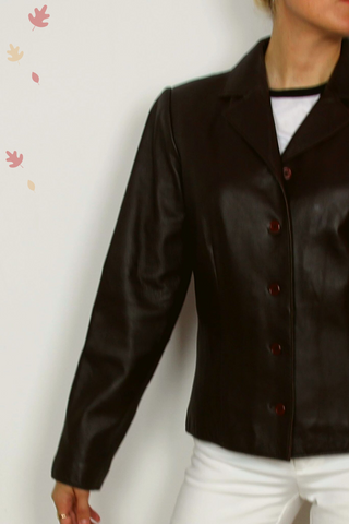 REVUE lamb leather jacket
