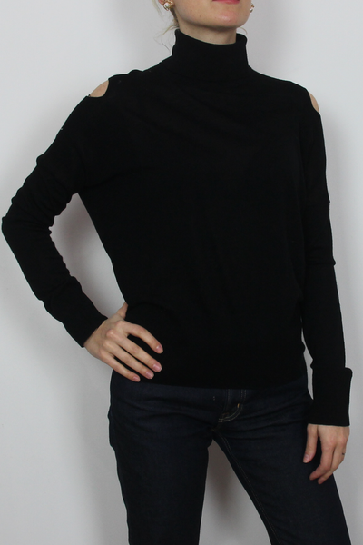 Vince black cut out top